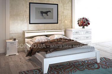 Кровать «Венеция» с ковкой 140*190 | белый