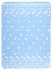Одеяло детское «Барвинок» 100*140 | голубое