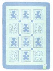 Одеяло детское «Барни» 100*140 | голубое
