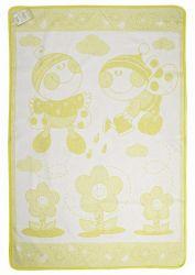 Одеяло детское «Букашка» 100*140 | желтое