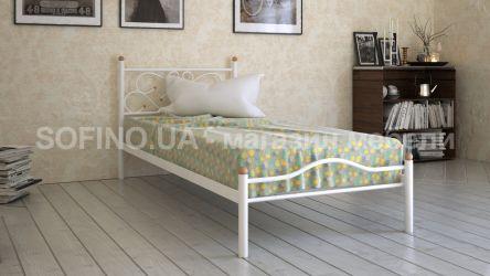 Кровать белая односпальная «Эрика» 80*190 | белый