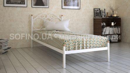 Кровать белая односпальная «Каролина» 80*190 | белый