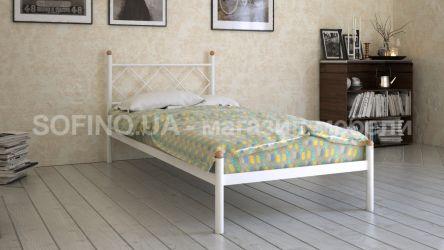 Кровать белая односпальная «Домино» 80*190 | белый