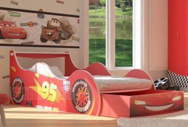 Кровать-машинка «Драйв-95 с ящиком» 60*120