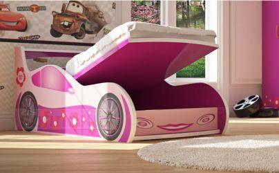 Кровать-машинка «Лили с подъемником» 60*120