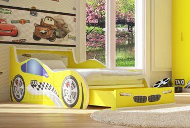 Кровать-машинка «Такси с ящиком» 60*120