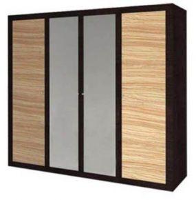 Шкаф 4d «Капри»   Зебрано африканское