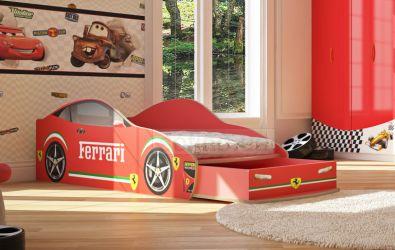 Кровать-машинка «Феррари с ящиком» 60*120