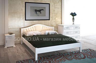Спальня «Италия» с мягким изголовьем | белый | 140*190