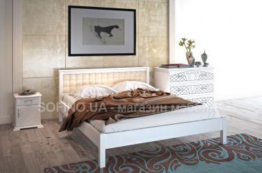 Спальня «Модерн» с мягким изголовьем | белый | 140*190