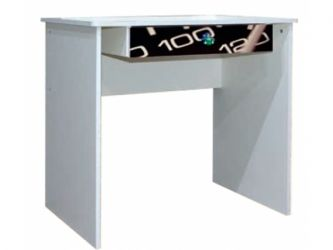 Стол письменный «Гонки» художественная печать | белый
