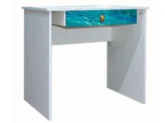 Стол письменный «Дельфины» художественная печать | белый