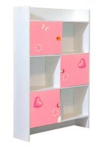 Шкаф книжный «Фея» художественная печать | белый