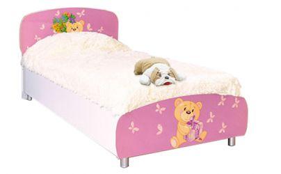 Кровать односпальная 90*200 «Мишки» художественная печать | белый