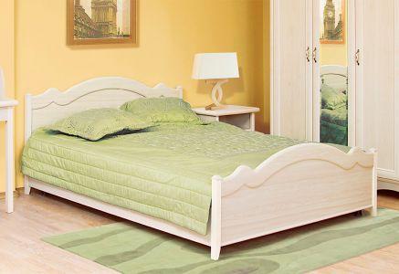 Ліжко двоспальне Світ меблів ДСП Селіна - Клен