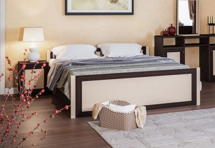 Ліжко для спальні Світ меблів Лотос ДСП Венге