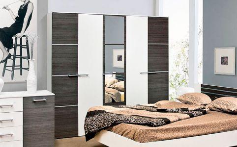Шафа 5Д Круїз Світ меблів • Дзеркало + ДСП • 229х205,7х54,4 • Білий + Дакар