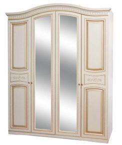 Шкаф 4Д «Николь» белое дерево патина