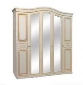 Шкаф 5Д «Николь» белое дерево патина