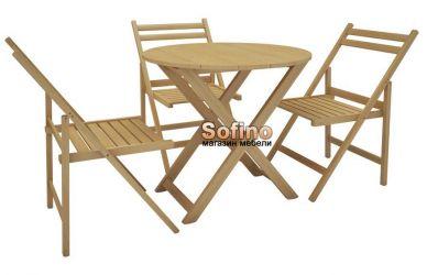 Стол Регина D70 + 4 стула Амстор