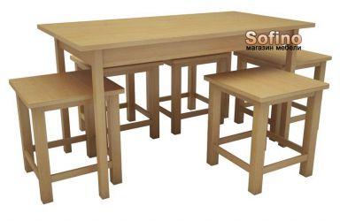 Стол Классик 60*110 + 4 табурета Софита | Лак