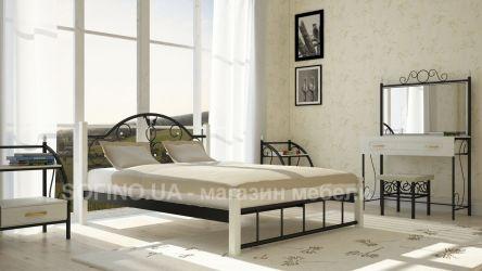 Фото Двуспальная кровать «Анжелика» деревянные ножки - sofino.ua