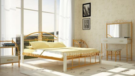 Фото Двуспальная кровать «Кассандра» деревянные ножки - sofino.ua