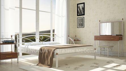 Кровать двуспальная «Вероника» 120*190 | Белый бархат