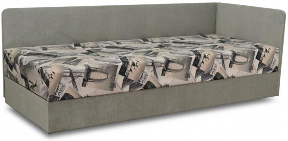 Кровать детская «Болеро» с матрасом   мебельная ткань 80*200