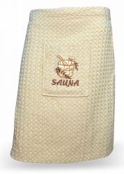 Полотенце вафельное «126188» беж | для сауны