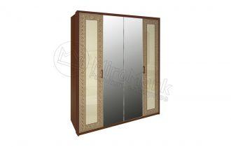 Шкаф 4д «Виола» с зеркалом | Вишня бюзум