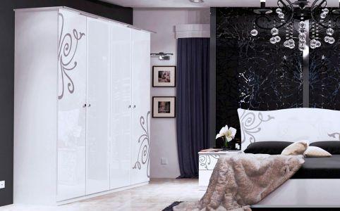 Шкаф 4д «Богема» без зеркала | Глянец белый