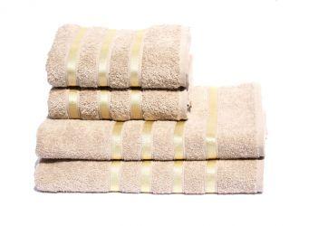 Полотенце махровое «S.Stripe Gold» 50*90 | бежевый