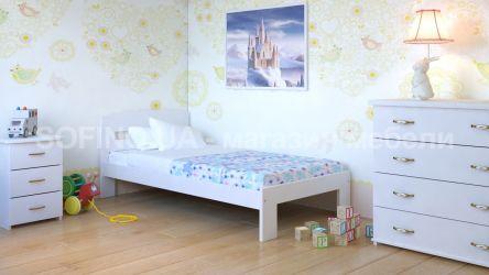 Кровать детская Ирис Мини - 70*190 | Белый