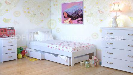 Кровать детская Хлоя Мини - 70*190 с ящиками | Белый