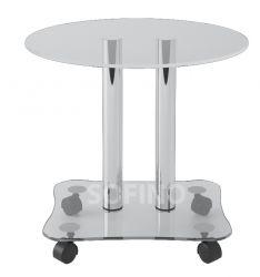 Журнальный стол «JTR 001» D55 (Прозрачный)