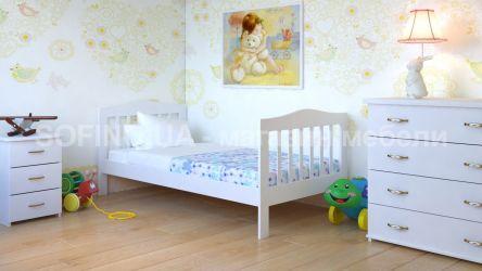 Кровать детская Хлоя - 70*190 без планок от стены | Белый