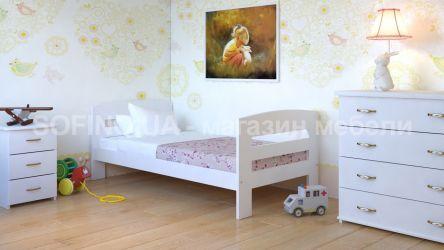 Кровать детская Ирис - 70*190 без планок от стены | Белый