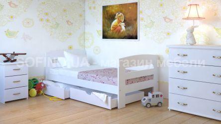 Кровать детская Ирис - 70*190 с ящиками без планок от стены | Белый