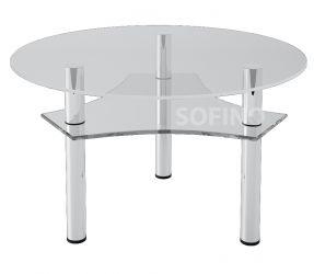Журнальный стол «JTR 002» D80 (Прозрачный)