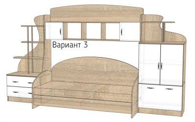 Кровать-горка «Д1/3» меламин