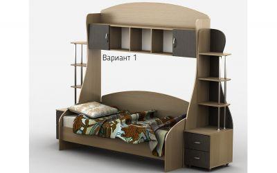 Кровать-горка «Д1/1Р» меламин