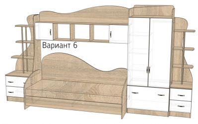 Кровать-горка «Д2/6» меламин