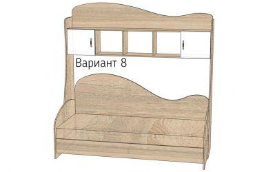 Кровать-горка «Д2/8» меламин