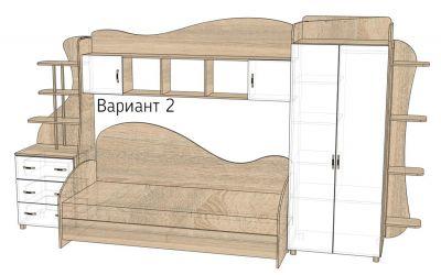 Кровать-горка «Д2/2Р» меламин