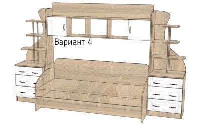 Кровать-горка «Д3/4» меламин