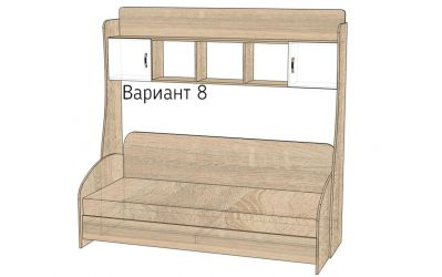 Кровать-горка «Д3/8» меламин