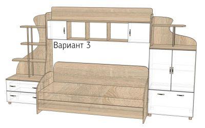 Кровать-горка «Д3/3Р» меламин