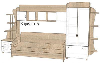 Кровать-горка «Д3/6Р» меламин