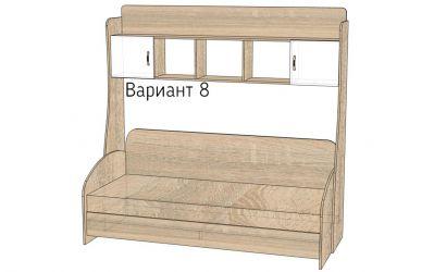 Кровать-горка «Д3/8Р» меламин
